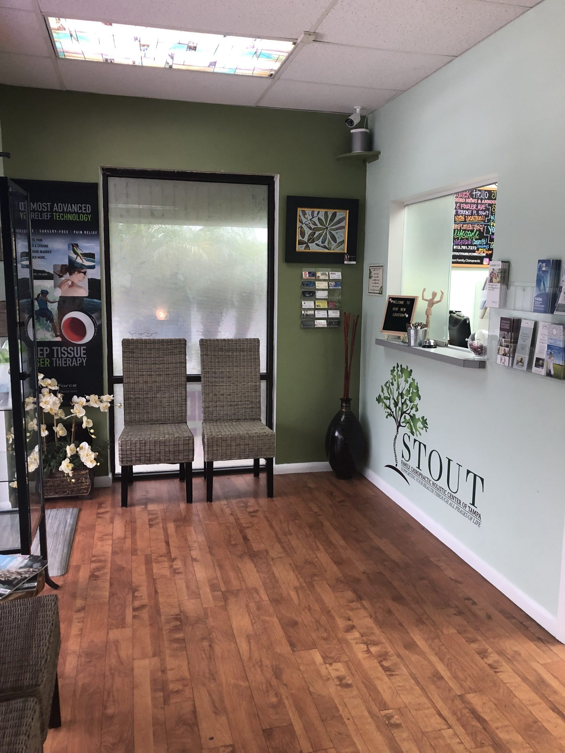 Front of Office at stout family chiropractic and holistic center