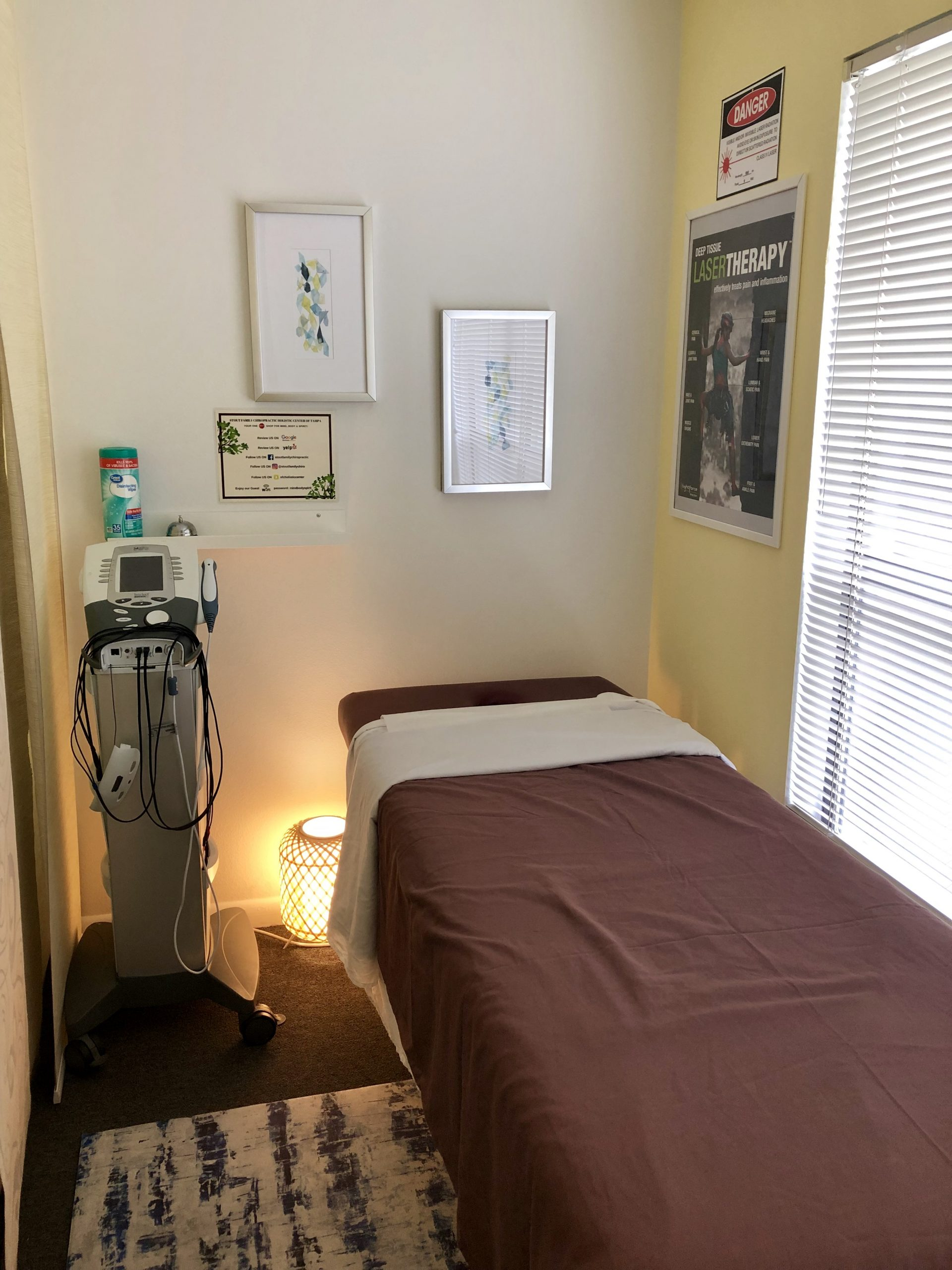 room inside stout family chiro